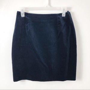 Hugo Buscati Collection Navy Blue Velvet Skirt 8